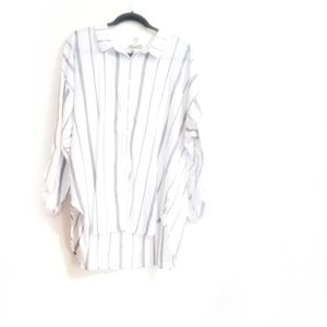 Forever  21 button down strip shirt